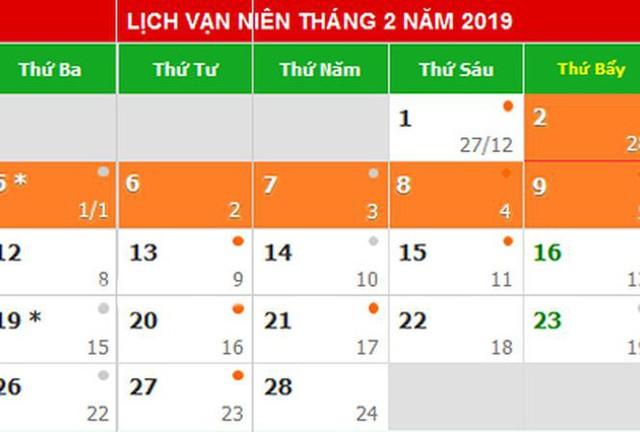 Đã có đề xuất phương án các ngày nghỉ lễ năm 2019
