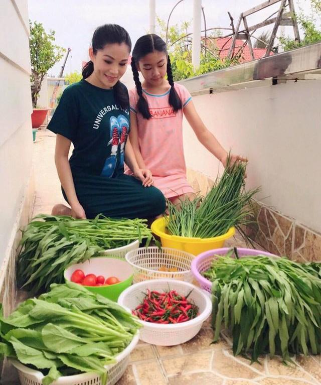 Gia đình vợ chồng MC Quyền Linh có ngôi biệt thự đẹp và có cả khu vực trồng rau trái.