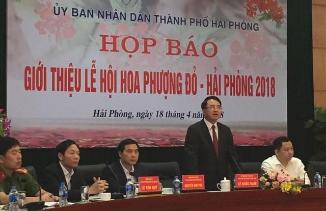 UBND TP. Hải Phòng tổ chức họp báo về Lễ hội hoa phượng đỏ năm 2018. Ảnh: T.Minh