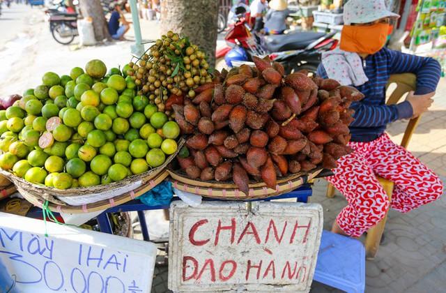 Cũng trên con đường Trường Chinh, Cộng Hòa... quả chanh đào được người bán rao nhập từ Hà Nội.