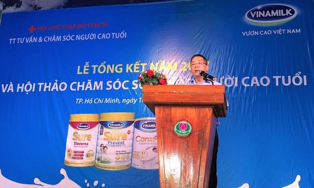 Anh Nguyễn Ngọc Thành - Giám đốc kinh doanh HCM của Vinamilk phát biểu tại hội thảo