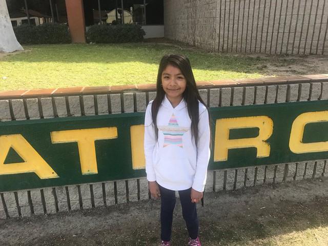 Amy đã bị người lạ mặt bắt cóc khi đang trên đường đến trường. (Ảnh: Twitter)