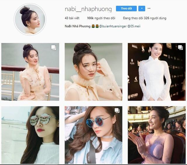 Tài khoản giả mạo này có tới hơn 166.000 lượt theo dõi, thường xuyên đăng tải hình ảnh của Nhã Phương.