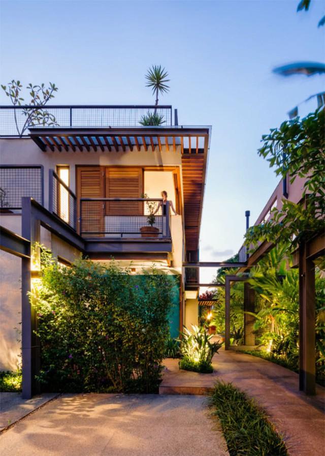 Cây xanh được tận dụng tối đa để trang trí nhà.