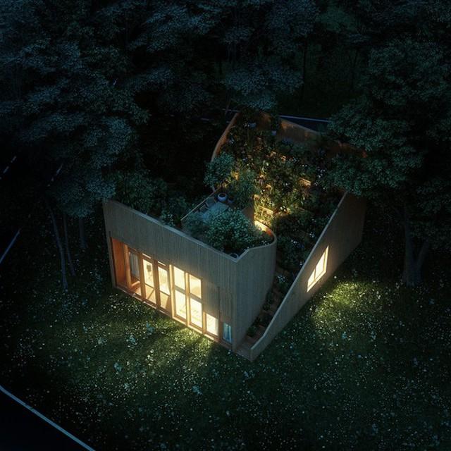 Ngôi nhà nhìn từ trên cao khá nhỏ bé, gọn gàng và đặc biệt, mỗi mùa nó lại có một mùi thơm khác nhau đấy.