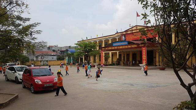 Trường Tiểu học An Đồng - nơi xảy ra sự việc.