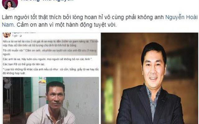 Cộng đồng cảm ơn và nể phục trước tấm lòng thơm thảo của anh Nguyễn Hoài Nam.