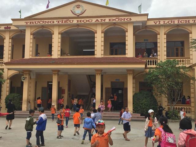 Trường tiểu học An Đồng nơi xảy ra sự việc gây bức xúc dư luận. Ảnh: Minh Thư