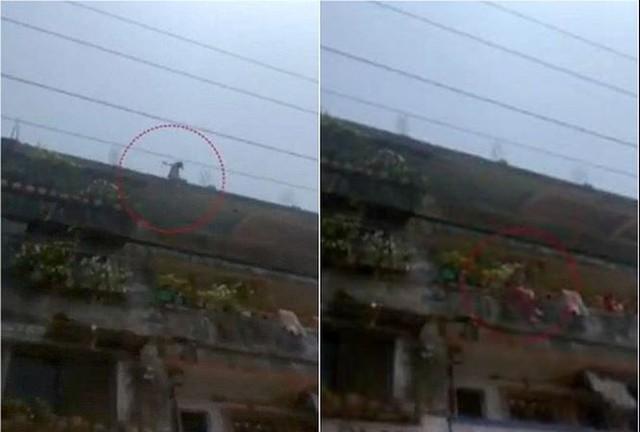 Bé gái nhảy từ nóc nhà 4 tầng xuống đất để trốn 'yêu râu xanh'