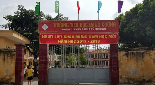 Trường tiểu học Đặng Cương, nơi xảy ra sự việc. Ảnh: TL