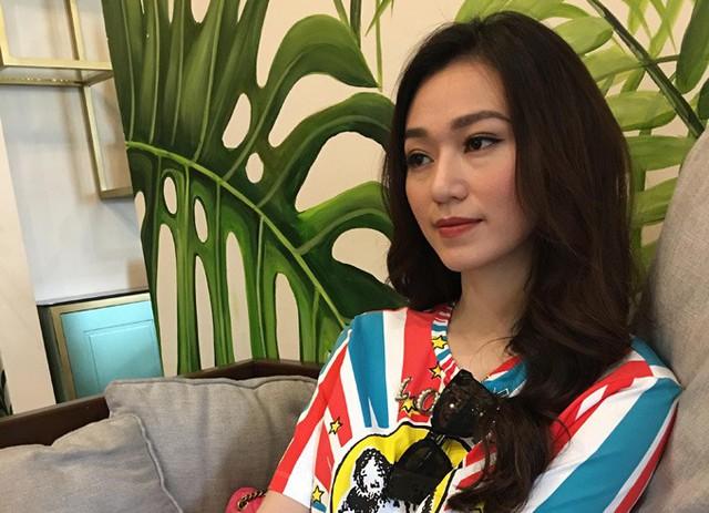 Diễn viên Khánh My trong buổi trò chuyện chiều 10/5 ở TP HCM.