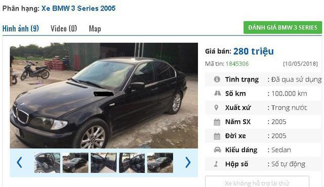 Chiếc BMW 318i này được chủ nhân rao bán giá 280 triệu đồng do nâng cấp lên xe mới.