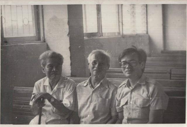 Từ trái sang: GS Tạ Quang Bửu, GS Lê Văn Thiêm, GS Phan Đình Diệu. Ảnh: Tư liệu gia đình