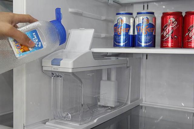 Tùy thuộc vào dung tích hộp chứa nước bạn có thể cho lượng nước phù hợp