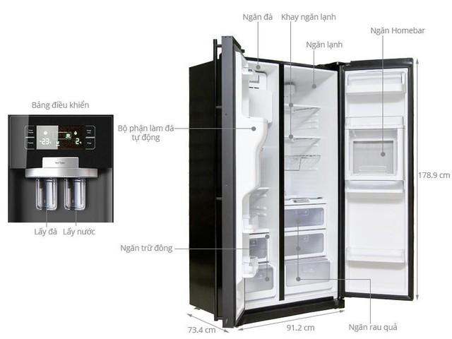 Tủ lạnh Samsung 518 lít RSH5ZLMR1/XSV là một trong những model có chức năng tự động làm đá