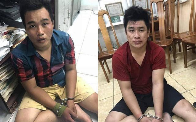 Hai nghĩ can Nguyễn Hoàng Châu Phú (24 tuổi, ngụ Hóc Môn) và Nguyễn Tấn Tài (24 tuổi, tức Tài Mụn)