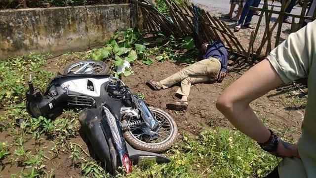 Hiện trường vụ đạo chích bị người dân đánh dẫn tới tử vong tại Nam Định. Ảnh: HH