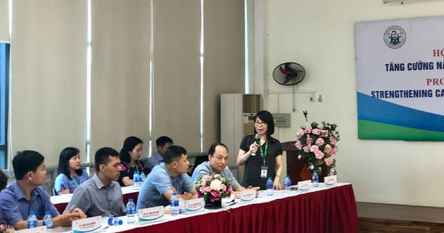GS-TS. Nguyễn Thị Thu Hà – Hiệu trưởng Trường Đại học Y tế Công cộng phát biểu tại Hội thảo