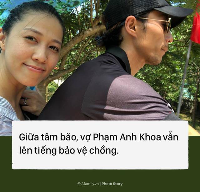 Vợ Phạm Anh Khoa vẫn luôn sát cánh bên chồng và lên tiếng bảo vệ chồng xuyên suốt scandal.