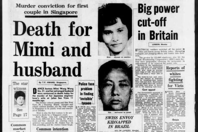 Vụ án cuồng ghen từng chấn động Singapore vào năm 1970. (Ảnh: Internet)