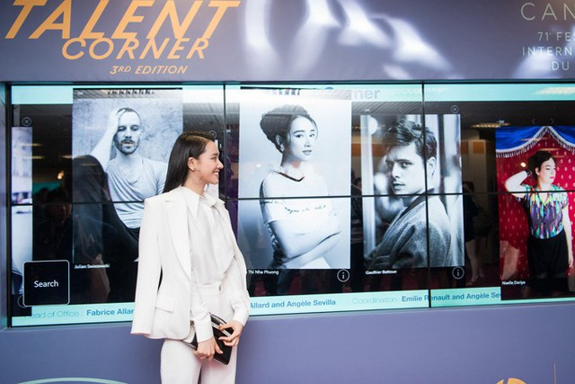Đây là năm đầu tiên Nhã Phương đến Cannes dự liên hoan phim. Cô không chỉ là nhà sản xuất kiêm diễn viên chính của phim ngắn Infill & Full set được chọn trình chiếu trong Góc phim ngắn, còn là nhân vật được ban tổ chức giới thiệu ở Talent corner - Góc tài năng.