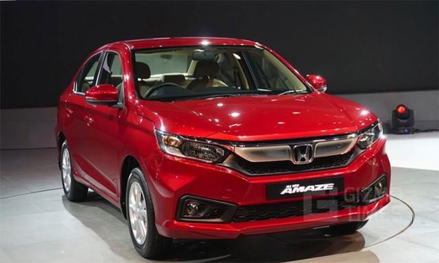 Mẫu sedan Honda Amaze được thiết kế hoàn toàn mới.