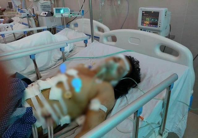Nạn nhân hiện đang được điều trị tại Bệnh viện Thanh Nhàn - Ảnh: FB