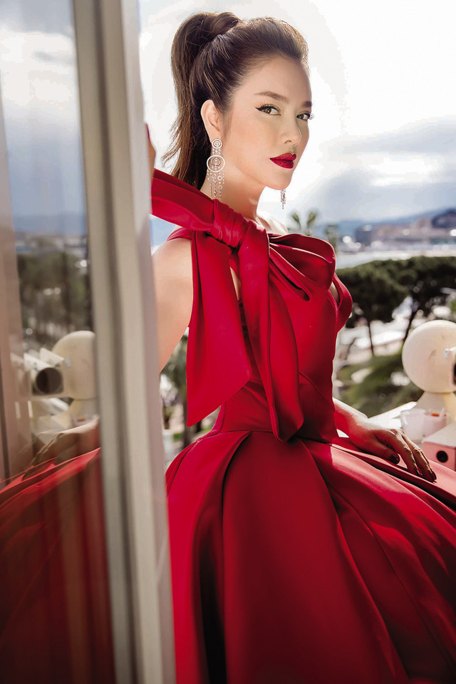 Người đẹp Lý Nhã Kỳ tại LHP Cannes (ảnh nhân vật cung cấp).