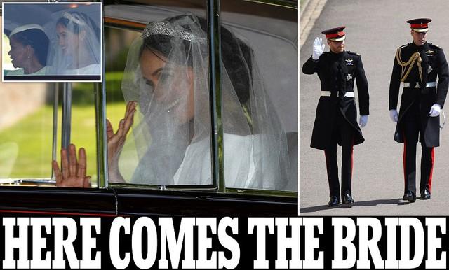 Cô dâu và chú rể xuất hiện trên bìa trang Dailymail.