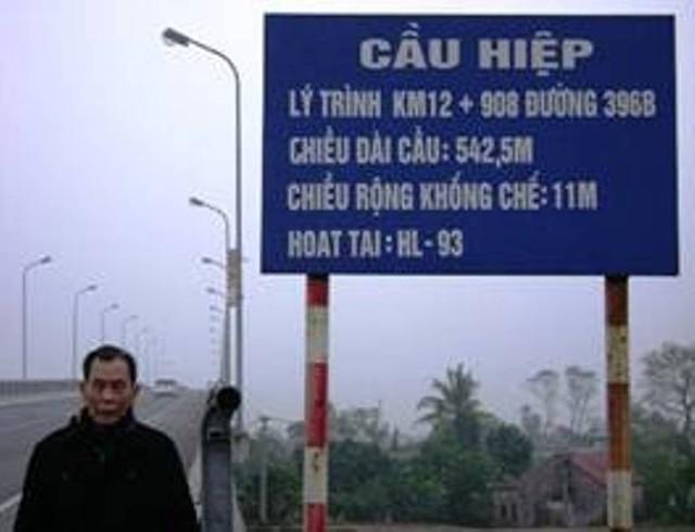 Khu vực cầu Hiệp nối liền giữa huyện Ninh Giang (Hải Dương) với huyện Quỳnh Phụ (Thái Bình), nơi sản phụ S. xuống xe ôm. Ảnh: TL