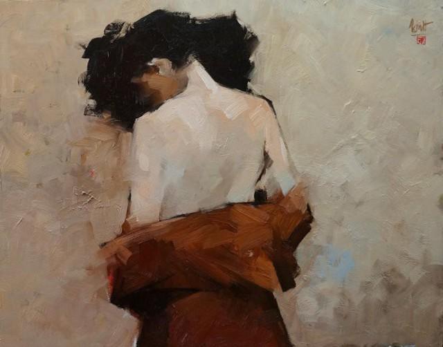 Một trong những bức tranh khỏa thân của họa sĩ Nguyễn Thanh Bình