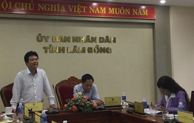 Thứ trưởng Phạm Lê Tuấn phát biểu tại cuộc họp với UBND tỉnh Lâm Đồng