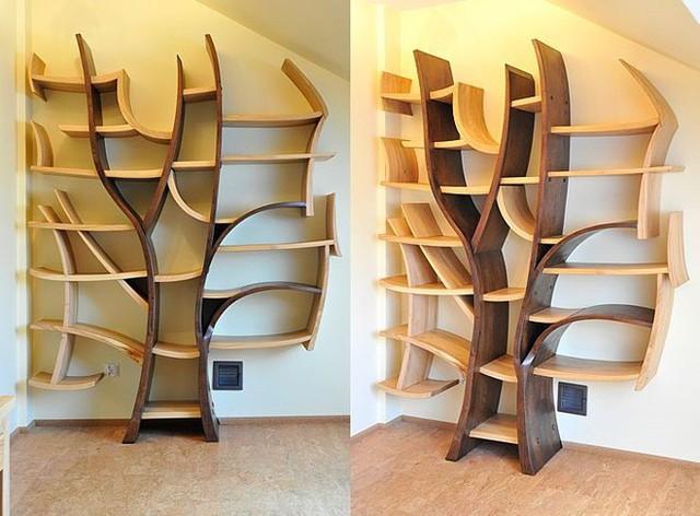 Hay là thiết kế giá sách theo hình cây xanh tỏa nhánh có 1-0-2. Phòng làm việc của bạn sẽ nổi bật hơn nhờ thiết kế độc đáo này.