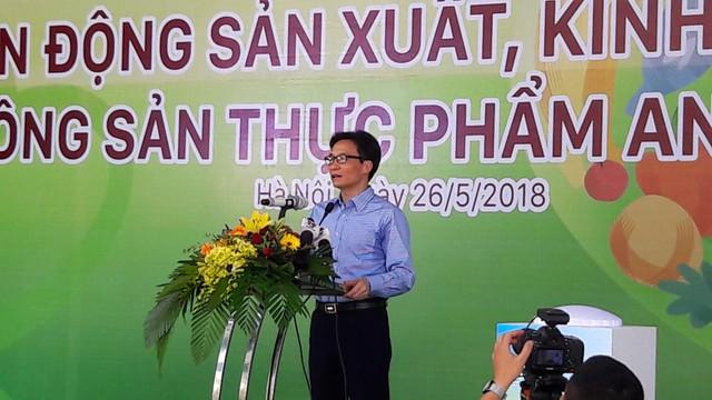 Ông Vũ Đức Đam – Uỷ viên BCH Trung ương Đảng, Phó Thủ tướng Chính phủ phát biểu tại buổi lễ. Ảnh: PV