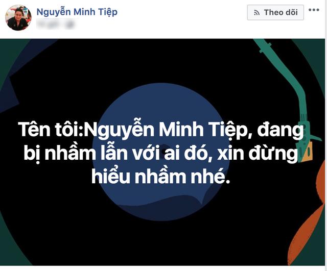 Diễn viên Minh Tiệp đã phải lên tiếng sau khi bị chỉ trích nhầm quá nhiều. (Ảnh: Facebook)