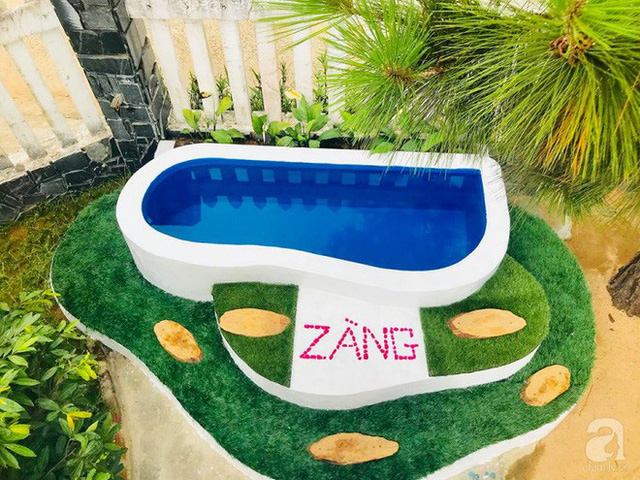 Bể bơi xanh mát đẹp ấn tượng.