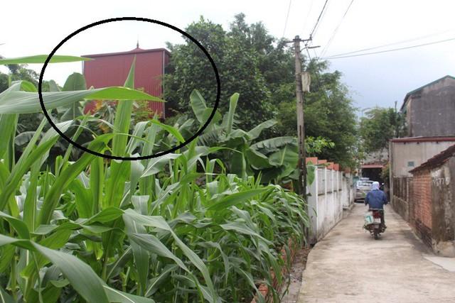 Ngôi nhà đối tượng Phương sinh sống tại huyện Cẩm Giàng (Hải Dương). Ảnh: Đ.Tùy