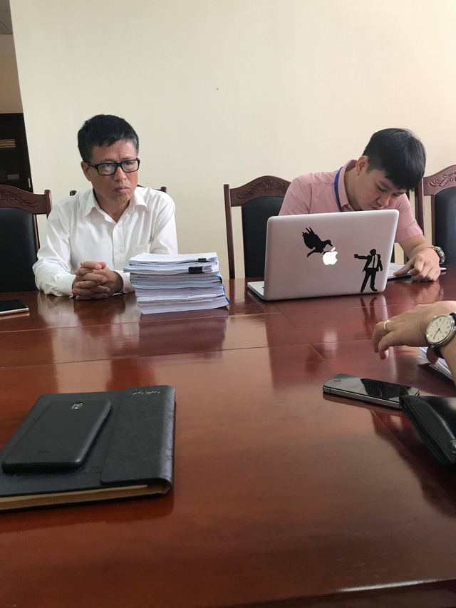 Ông Nguyễn Mạnh Tuấn - Trưởng BQL khu kinh tế Quảng Ninh làm việc với phóng viên. (ảnh: HC)