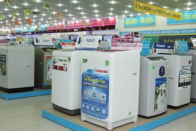 Điện Máy Xanh đang khuyến mãi tặng quà cho máy giặt của các thương hiệu: Toshiba, Panasonic, Sharp, Samsung, LG, Aqua, Hitachi,....