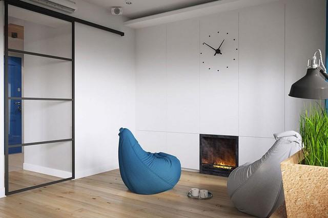 Trong nhà có những chiếc ghế đệm giúp gia chủ có chỗ ngồi thư giãn linh hoạt.