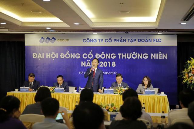 Chủ tịch FLC Ông Trịnh Văn Quyết chủ toạ ĐHCĐ thường niên năm 2018