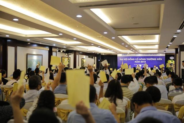 Cổ đông biểu quyết thông qua chương trình đại hội