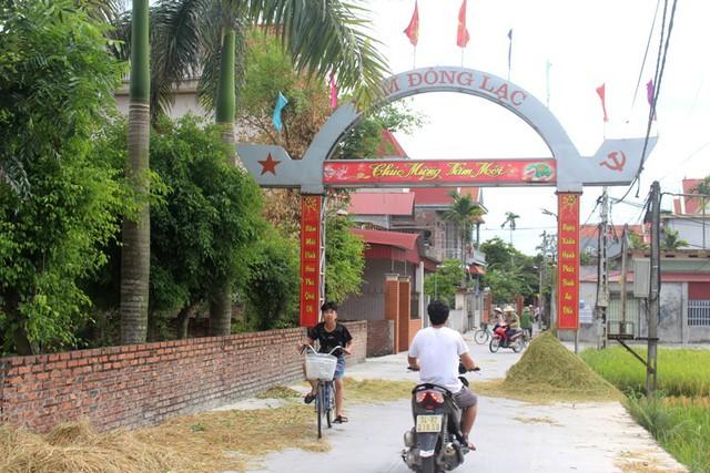 Xóm Đông Lạc, thôn Cam Lộ, xã Tân Việt - nơi gia đình nghi phạm T.sinh sống. Ảnh: Đ.Tùy