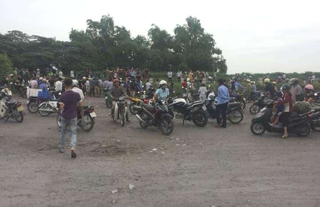 Khu vực phát hiện thi thể nạn nhân tại thôn Đoài, xã Hồng Lạc. Ảnh: Bạn đọc cung cấp