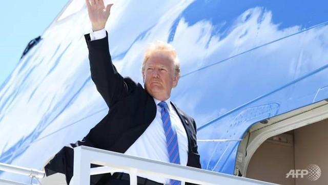 Tổng thống Trump rời Canada đến Singapore gặp nhà lãnh đạo Kim Jong Un. Ảnh: Internet