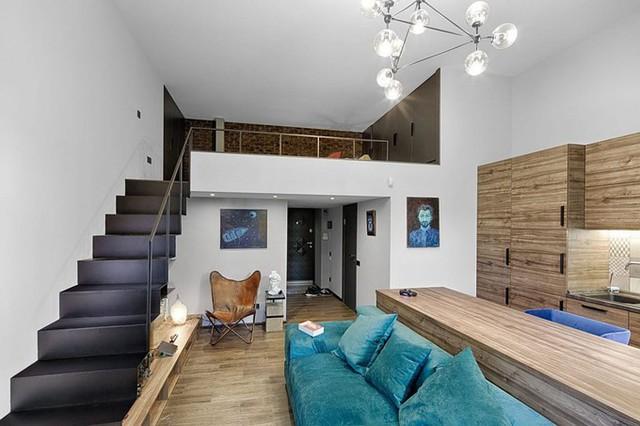 Điểm nhấn ấn tượng nhất của nhà là gác xép rộng 13 m2 làm nơi ngủ nghỉ.