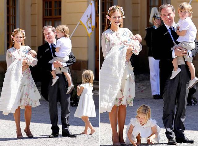 Công chúa Leonore không hợp tác trong khi chụp ảnh gia đình. Ảnh: Mega.