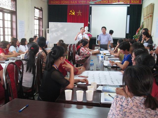 Một lớp tập huấn cho cán bộ y tế xã tại Phú Thọ. Ảnh: NT
