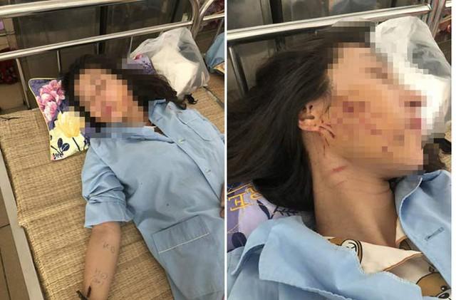 Chị G phải nhập viện điều trị sau khi bị tấn công đêm 12/10.