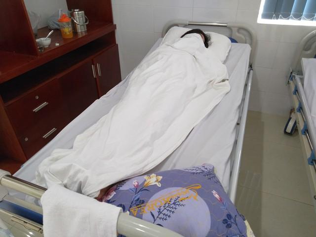 Chị G điều trị tại Bệnh viện Đa khoa TP Thanh Hóa. Ảnh: N.Hưng